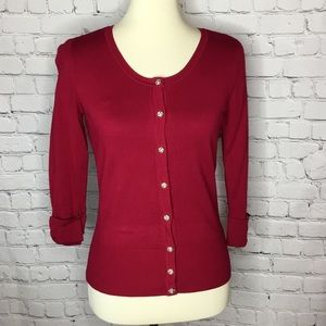 WHBM CARDIGAN SWEATER SNAP BUTTON FRONT LIKE NEW